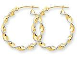 Finejewelers 14k Yellow Gold Polished 2.75mm Fancy Twisted Hoop Earrings style: TM233