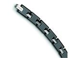 Chisel Tungsten and Black Ceramic Bracelet - 8.5 inches style: TUB101