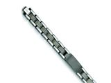 <b>Engravable</b> Chisel Tungsten Brushed and Polished ID Bracelet - 8.5 inches style: TUB105