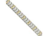 Chisel Tungsten W/14k Polished Link Bracelet style: TUB124875