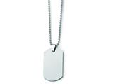 Chisel Tungsten Polished Dog Tag Necklace - 22 inches style: TUN100