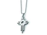 Chisel Tungsten Cross Necklace - 22 inches style: TUN102