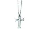 Chisel Tungsten Cross Necklace - 24 inches style: TUN104