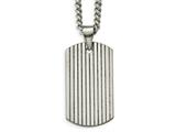Chisel Tungsten Polished Dog Tag Necklace style: TUN11722