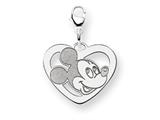 Disney Mickey Heart Lobster Clasp Charm style: WD100SS