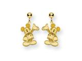 Disney Waving Mickey Dangle Post Earrings style: WD105GP