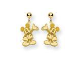 Disney Waving Mickey Dangle Post Earrings style: WD105GP