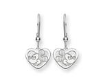 Disney Mickey Heart Dangle Wire Earrings style: WD108SS