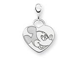 Disney Mickey Heart Lobster Clasp Charm style: WD109SS