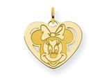 Disney Minnie Heart Charm style: WD134GP
