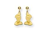 Disney Donald Duck Dangle Post Earrings style: WD151GP