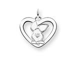 Disney Piglet Heart Charm style: WD196SS