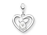 Disney Piglet Heart Lobster Clasp Charm style: WD197SS