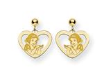 Disney Snow White Heart Dangle Post Earrin style: WD216GP