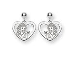 Disney Snow White Heart Dangle Post Earri style: WD216SS