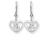 Disney Cinderella Heart Dangle Wire Earri style: WD225SS