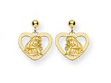 Disney Aurora Heart Dangle Post Earrings style: WD238GP