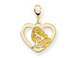 Disney Jasmine Heart Lobster Clasp Charm style: WD242GP