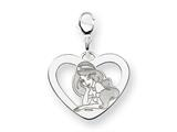 Disney Jasmine Heart Lobster Clasp Charm style: WD242SS