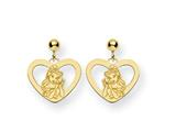 Disney Belle Heart Dangle Post Earrings style: WD244GP