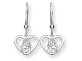 Disney Belle Heart Dangle Wire Earrings style: WD245SS