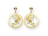 Disney Tinker Bell Round Dangle Post Earri style: WD259GP