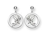 Disney Tinker Bell Round Dangle Post Earr style: WD259SS