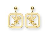 Disney Tinker Bell Square Dangle Post Earr style: WD261GP