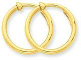 14k Non-pierced Hoop Earrings style: X94