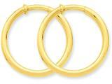14k Non-pierced Hoop Earrings style: X98