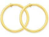 14k Non-pierced Hoop Earrings style: X99