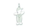 <b>Engravable</b> Finejewelers Sterling Silver Pee-wee Cuddle Charm style: XK1809SS