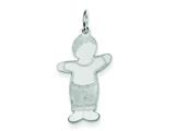 "<b>Engravable</b> Finejewelers Sterling Silver Momma""s Boy Cuddle Charm style: XK1816SS"