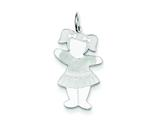 <b>Engravable</b> Finejewelers Sterling Silver Back To School Cuddle Charm style: XK1827SS