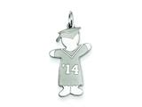 Sterling Silver Class Of 2014 Boy Cuddle Charm style: XK1958SS