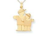 The Kids® Big Boy and Little Boy Engraveable Charm / Pendant Necklace style: XK294