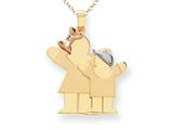 The Kids® Big Girl and Little Boy Engraveable Charm / Pendant style: XK637