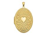 Finejewelers 14k Celtic Heart 38mm Oval Locket Pendant Necklace 18 inch chain included style: XL385