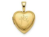 Finejewelers 14k 12mm 1st Communion Heart Locket Pendant Necklace 18 inch chain included style: XL710