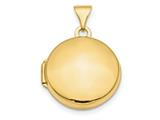 Finejewelers 14k Polished Domed 16mm Round Locket Pendant Necklace 18 inch chain included style: XL728