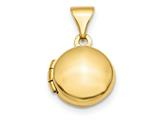 Finejewelers 14k Polished Domed 10mm Round Locket Pendant Necklace 18 inch chain included style: XL729