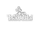 Personalized Disney Mickey Mouse Nameplate (up to 9 Letters) - Chain Included style: XNA464SS