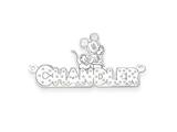 Personalized Disney Mickey Mouse Nameplate (up to 9 Letters) - Chain Included style: XNA465SS