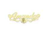 Personalized Disney Jasmine Nameplate (up to 9 Letters) - Chain Included style: XNA469GP