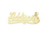 Personalized Disney Snow White Nameplate (up to 9 Letters) - Chain Included style: XNA479GP