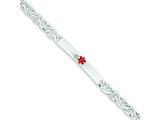 Sterling Silver Polished Medical Anchor Link Id Bracelet style: XSM158