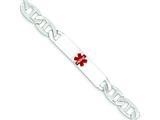Sterling Silver Polished Medical Anchor Link Id Bracelet style: XSM165