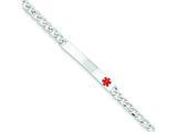 Sterling Silver Polished Medical Curb Link Id Bracelet style: XSM166