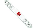 Sterling Silver Polished Medical Curb Link Id Bracelet style: XSM175