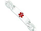 Sterling Silver Polished Medical Anchor Link Id Bracelet style: XSM178